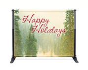 Vintage Trees Backdrop - Happy Holidays - CBB040