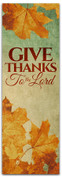 Thanksgiving banner Give Thanks to the Lord
