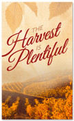 Thanksgiving banner Harvest is Plentiful vineyard design