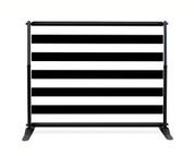 Black Stripe Booth Backdrop - CBB036