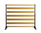 Gold Stripe Booth Backdrop - CBB037