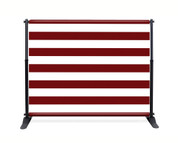 Red Stripe Booth Backdrop - CBB039