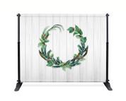 Wreath Shiplap Booth Backdrop - CBB042
