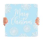 Blue Snowflake - Merry Christmas - CHH009