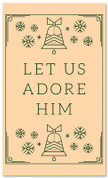 Native Stamp - Let Us Adore Him - CB001 xw