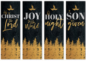 Gold Holly Trees CB032 - Set of 4