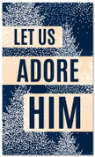 Dotted Trees - Let Us Adore Him - CB038 xw