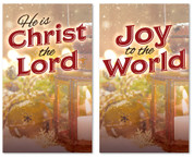 3x5 set of 2 Christmas banners