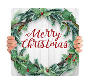 Wreath Shiplap - Merry Christmas - CHH026