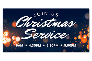 Christmas outdoor banner