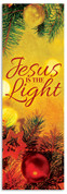 Vintage Ornament Jesus is the Light banner