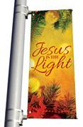 Vintage Ornament Jesus is the Light Banner Christmas
