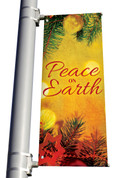 Vintage Ornament Peace on Earth Banner Christmas