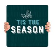 Teal Texture Holly - Tis the Season - CHH032