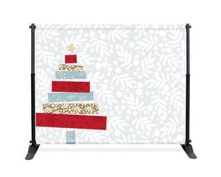 Tape Christmas Tree Photo Backdrop