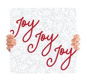 Tape Christmas Tree Handheld -Joy Joy Joy - CHH036