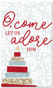 Tape Christmas Tree - O Come Let Us Adore Him - CB061 xw