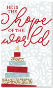 Tape Christmas Tree - He is the Hope of the World - CB062 xw