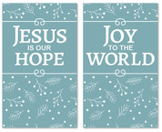 set of 2 Christmas banners