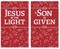 set of 2 Christmas banners