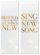 Gold Stars banner set