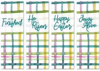 set of 4 banners