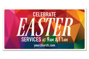 Outdoor Easter vinyl banner
