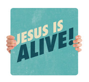 Textured Teal - Jesus is Alive HHE057