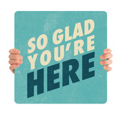Textured Teal - Glad You're Here HHE058