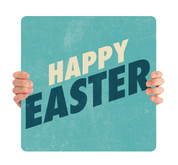 Textured Teal - Happy Easter HHE059