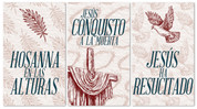 set of 3 xw Spanish easter banners