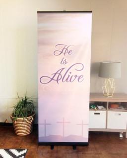 retractable indoor banner easter