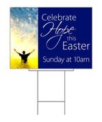Celebrate Hope Blue Field Easter Yard Sign