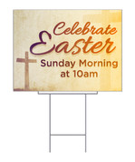 Celebrate Easter Gold Yard Sign