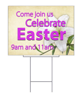 Celebrate Easter Lily Yard Sign