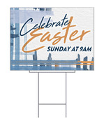 Easter Blue Plaid Design for yard signs