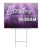 Easter Multicolor purple yard sign design