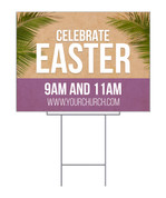 Easter Palm Leaves design - yard signs