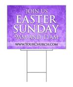 Easter Sunday Floral Purple Design