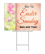 Easter Sunday Wildflower yard sign