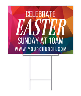 Multicolor Easter Yard Sign