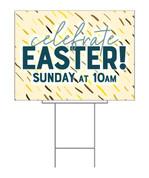 Celebrate Easter Yellow Confetti design