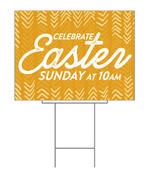 Celebrate Easter Yellow Chevron