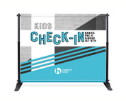 Kids Backdrop - Checkin - Style 28 - Church Banners