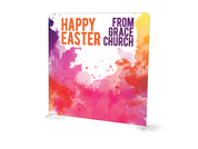 Watercolor Splash Happy Easter Tension Backdrop
