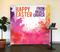 Watercolor Splash Happy Easter Tension Backdrop Display
