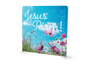 Modern Field Jesus is Risen Tension Backdrop Display