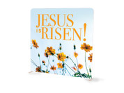 Modern Wildflowers Jesus is Risen Tension Backdrop Display