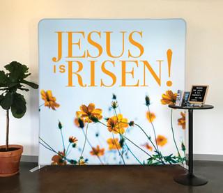 Modern Wildflowers Jesus is Risen Tension Backdrop Display