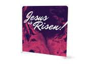 Purple Swirl Easter Jesus is Risen Tension Backdrop Display